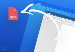ذخیره سازی پی دی اف (PDF) در آفیس ورد
